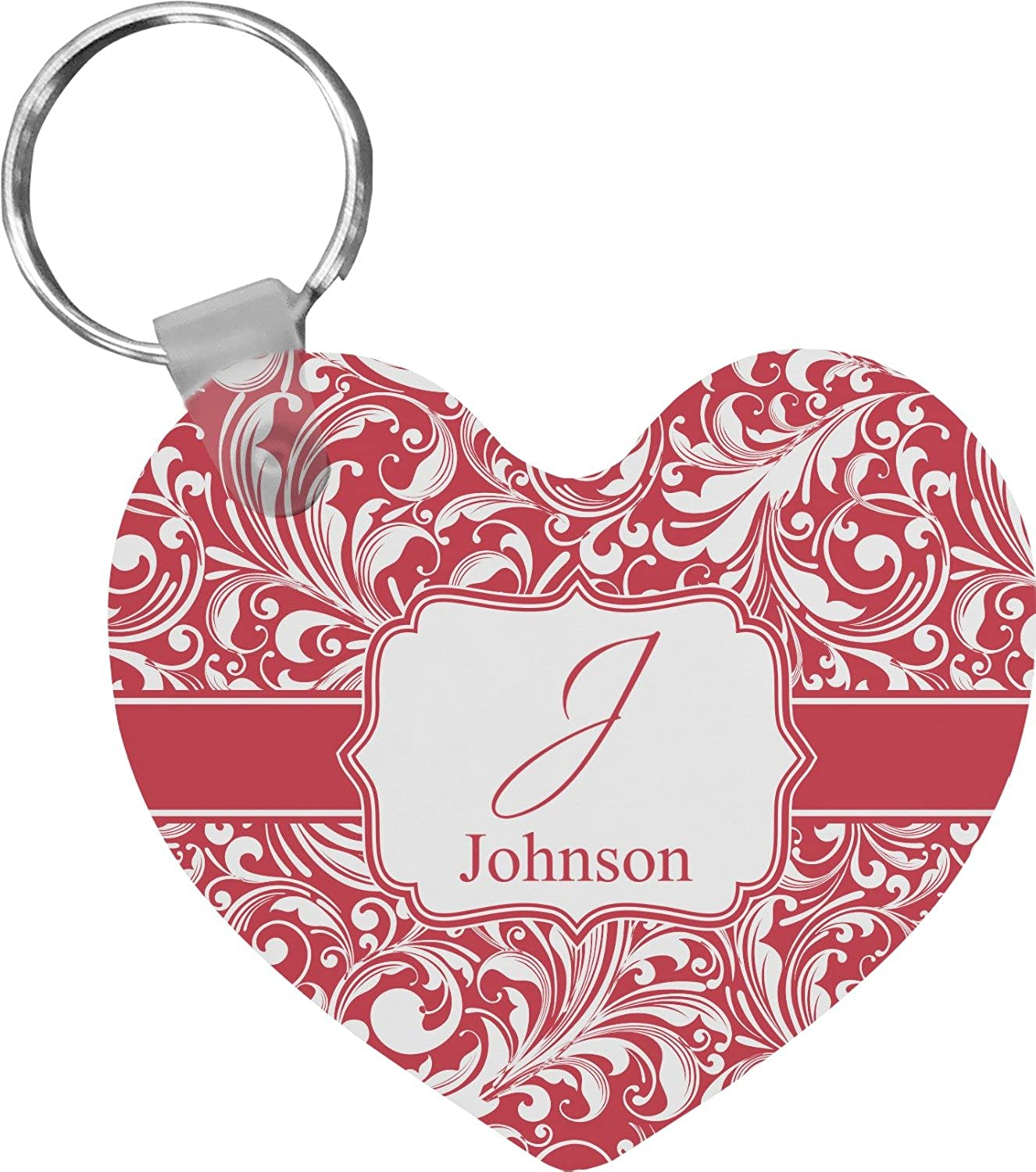 Swirl Heart Keychain (Personalized)