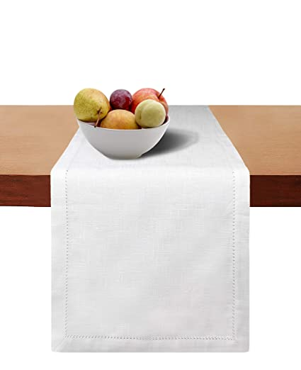 Exceptionnel Cotton Clinic 2 Pack Slub Hemstitch Table Runners 90 Inch, 16x90 Cotton  Wedding Table Runners
