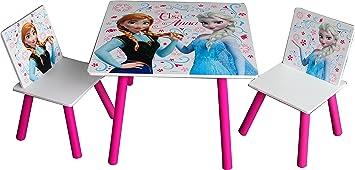 Disney Frozen - Set de Mesa y 2 sillas de Madera, 60 x 60 x 42 cm (Kids WD16111): Juguetes y juegos - Amazon.es