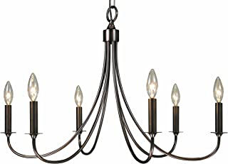 product image for Framburg 1006 SP 6-Light Maisonette Dining Chandelier, Satin Pewter