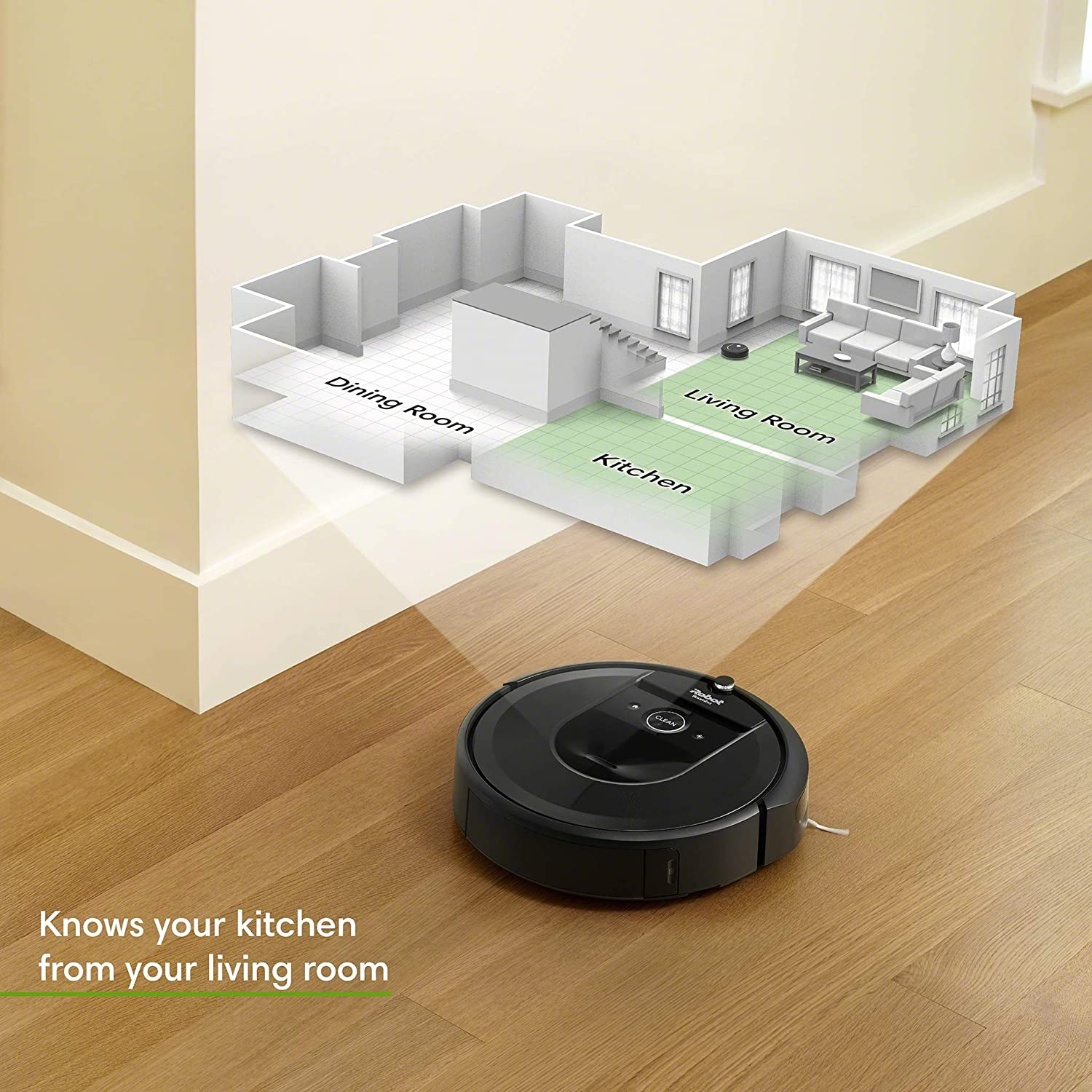 iRobot Roomba i7 7150 Robot Vacuum- Wi-Fi Connected, Smart Mapping, Works with Alexa, Ideal for Pet Hair, Carpets, Hard Floors