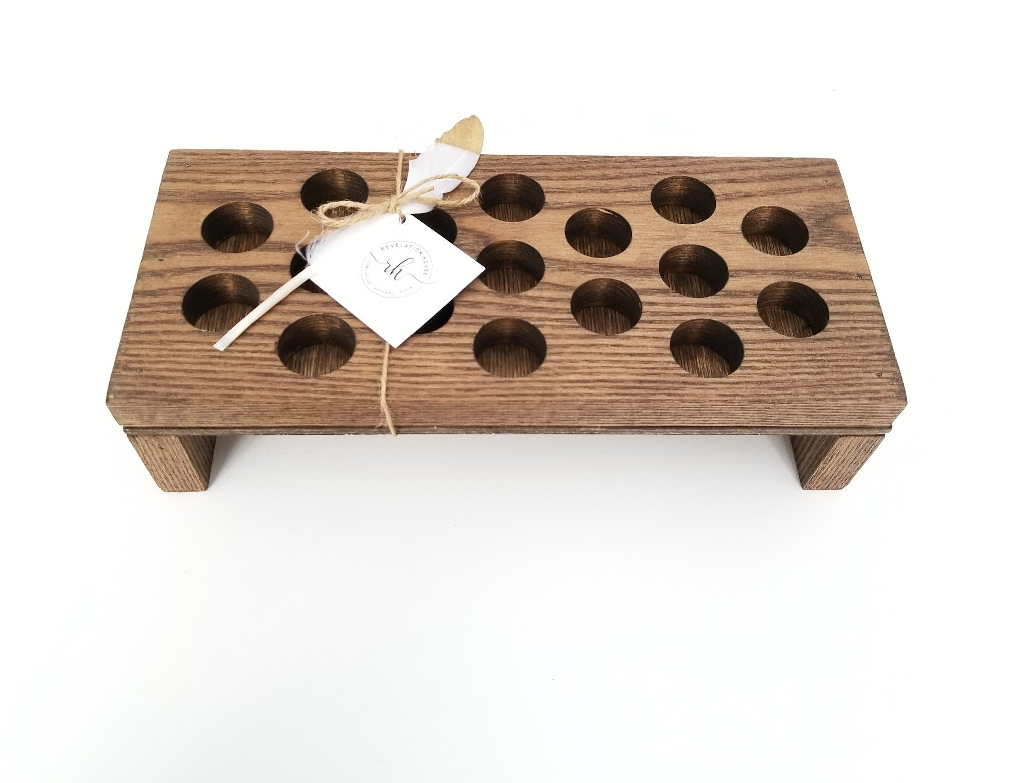 Essential Oil Display Tray - Spa Gift for Her - Essential Oil Wood Rack