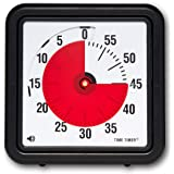 Time Timer Original 12 inch; 60 Minute Visual Timer – Classroom Or Meeting Countdown Clock for Kids and Adults (Black) (Time