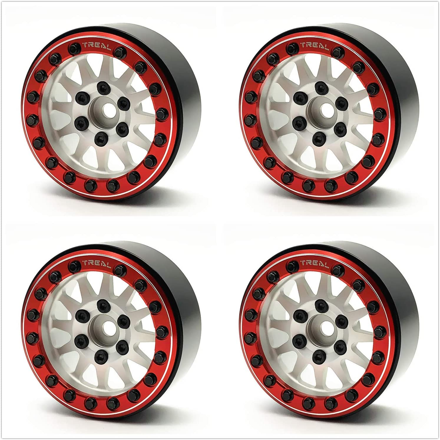 Treal 1.9 beadlock Regular discount At the price Wheels 4P-Set 1:10 Alloy for Crawler