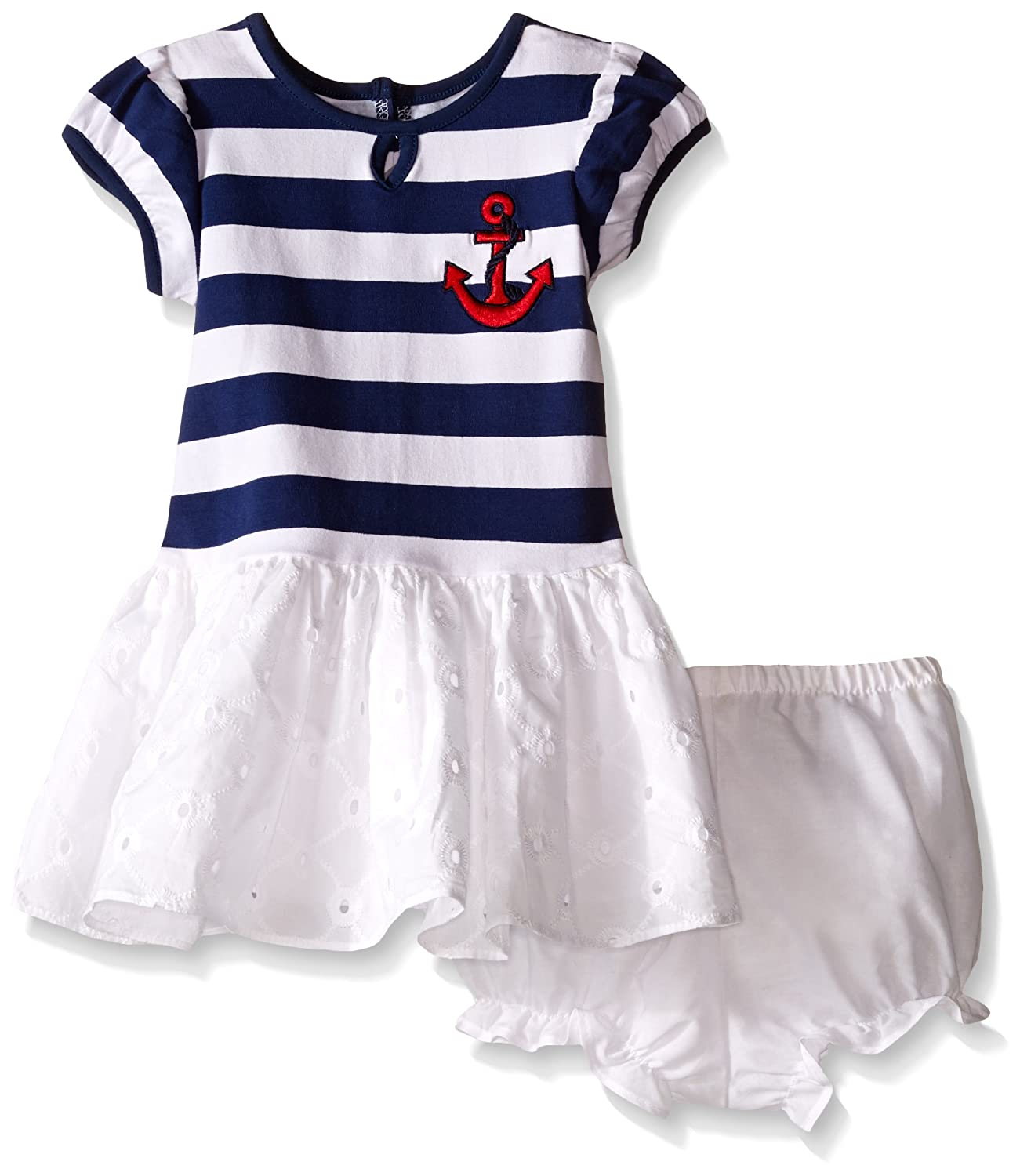 Amazon Pippa & Julie Baby Girls Nautical Striped and Eyelet