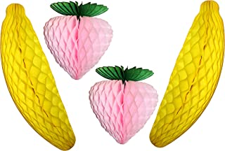 product image for 10 Inch Pink Strawberry, 15 Inch Banana (2 Each)