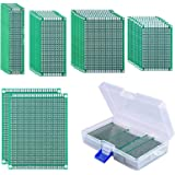 AUSTOR 36 Pcs Double Sided PCB Board Prototype Kit 5 Sizes Universal Printed Circuit Protoboard with Free Box for DIY…