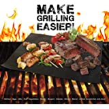 INFERNO Grill Mats - Set of 4 Non Stick BBQ Grill Mats - Heavy Duty, Easy to Clean, Reusable - Extended Warranty