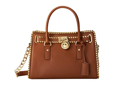 dfe9a7c779f3 Image Unavailable. Image not available for. Color: Michael Kors Whipped  Hamilton East West Satchel Luggage/Dark Gold/Gold