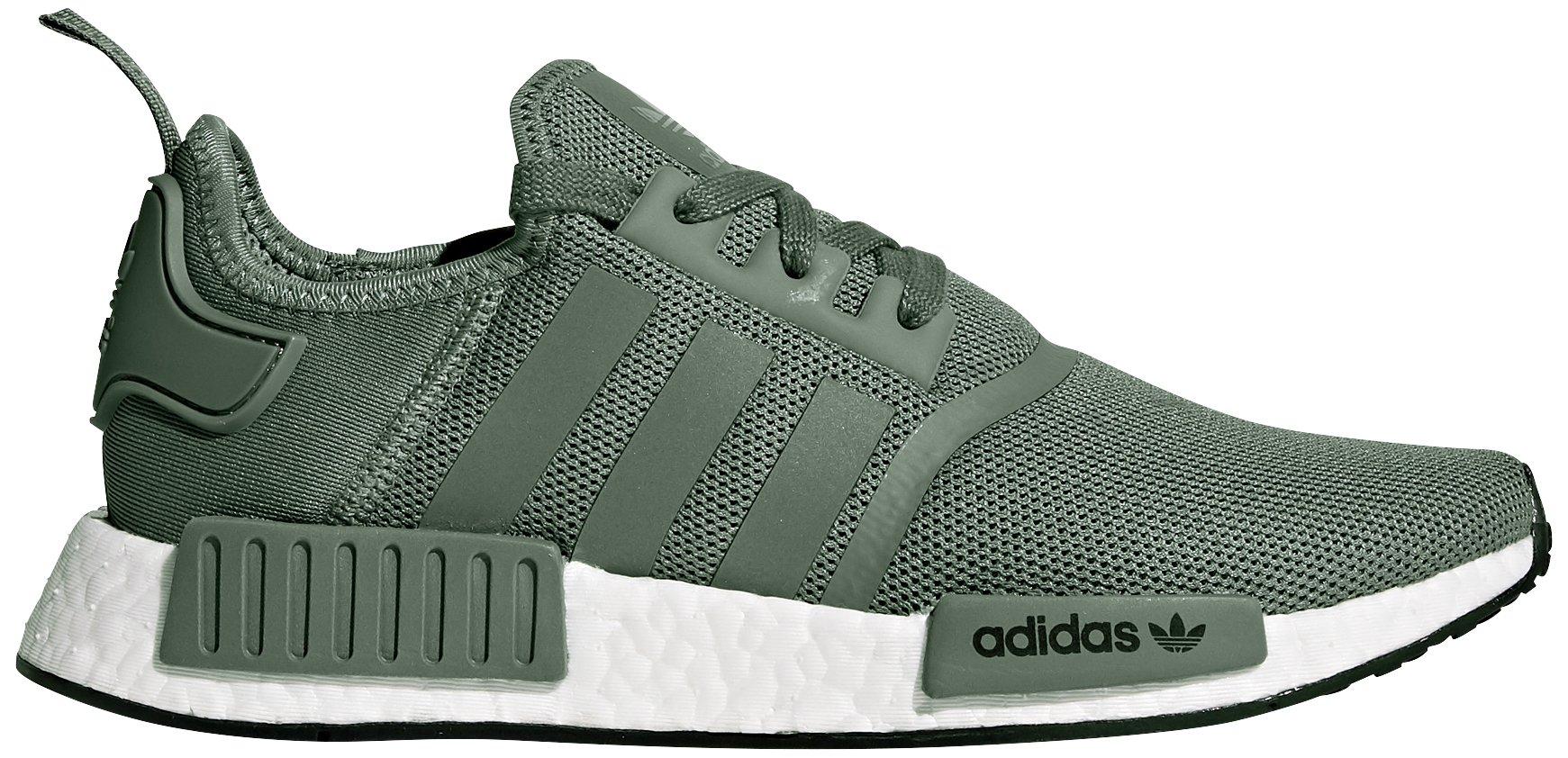 adidas Originals Men's NMD_R1 Running Shoe, Trace Green/Turbo, 9 M US