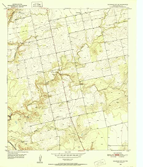 Se Colorado Map.Amazon Com Yellowmaps Colorado City Se Tx Topo Map 1 24000 Scale