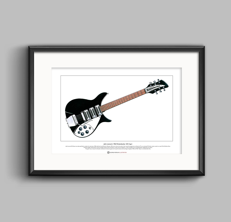 John Lennon/'s Guitars Limited Edition Fine Art Print A3 size