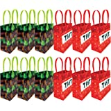 Pixels Miner Themed Party Favor Bags Treat Bags, 12 Pack