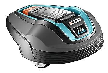 GARDENA Robot cortacésped R40Li - Robot cortacésped con batería, por jardines hasta 400 qm, pendiente máxima hasta 25 %, disco portacuchillas con 3 ...
