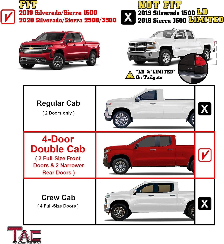 Double Cab Vs Crew Cab Silverado >> Tac Side Steps Running Boards Fit 2019 2020 Chevy Silverado Gmc Sierra 1500 2020 Silverado Sierra 2500 3500 Double Cab Truck Pickup 3 Black Side