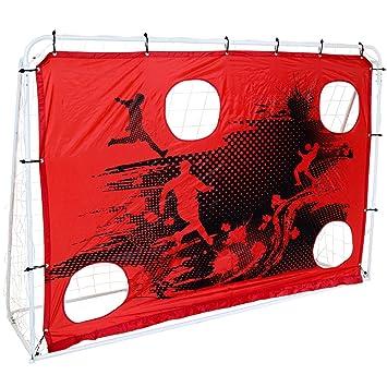 Charles Bentley Portería y Red de fútbol 3 en 1 Tiro al Blanco - Metálica - 213 x 152 cm: Amazon.es: Deportes y aire libre
