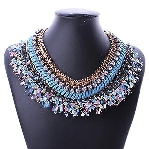 Bohemia Diamonds Explosion models exaggeration fashion retro false collar necklace