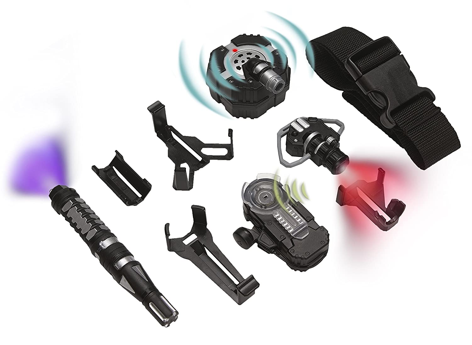 SpyX Micro Gear Set - 4 Must-Have Spy Tools Attached to an Adjustable Belt
