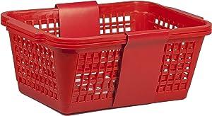 Home Basics PB40234-RED Basket, Jumbo, Red, 2-Pack