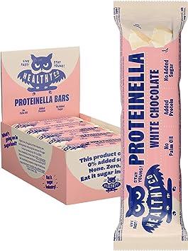 HealthyCo – Barrita Proteinella de Chocolate Blanco - Un refrigerio saludable, sin azúcar agregada, sin aceite de palma y con proteína agregada 35gx20 ...