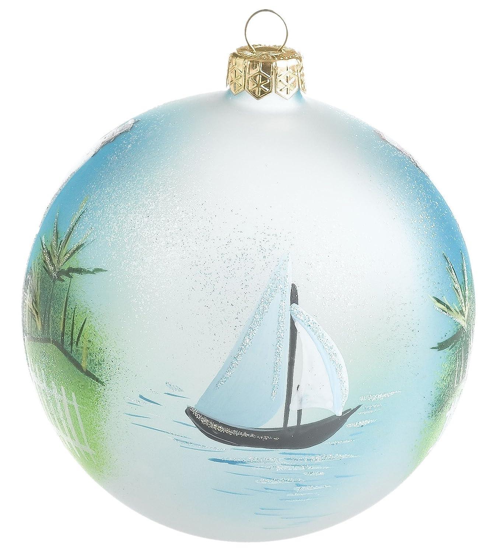St Augustine)  Handblown Glass Ornament: Home & Kitchen