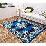 "Vram Velvet Carpet & Area Rug |Drawing Room, Office,Living Room, Hall,Yoga Anti Skid Carpet- |60"" inch x 84"" inch | 150 cm x 210 cm | 5 Feet x 7 Feet | - Firoji Color"
