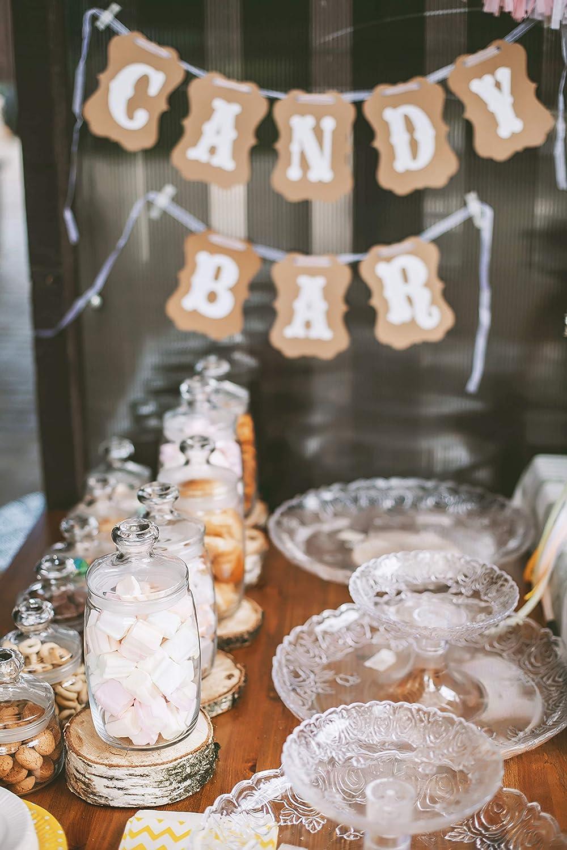 Geburtstagen und Anderen Feiern Candy Bar Zubeh/ör Banner zur Deko der Candybar auf Hochzeit ZesNice Candy Bar Girlande