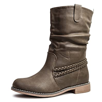 14bd37018dd84f Damen Stiefel Schlupfstiefel Boots Stiefeletten gefüttert ST87 ...