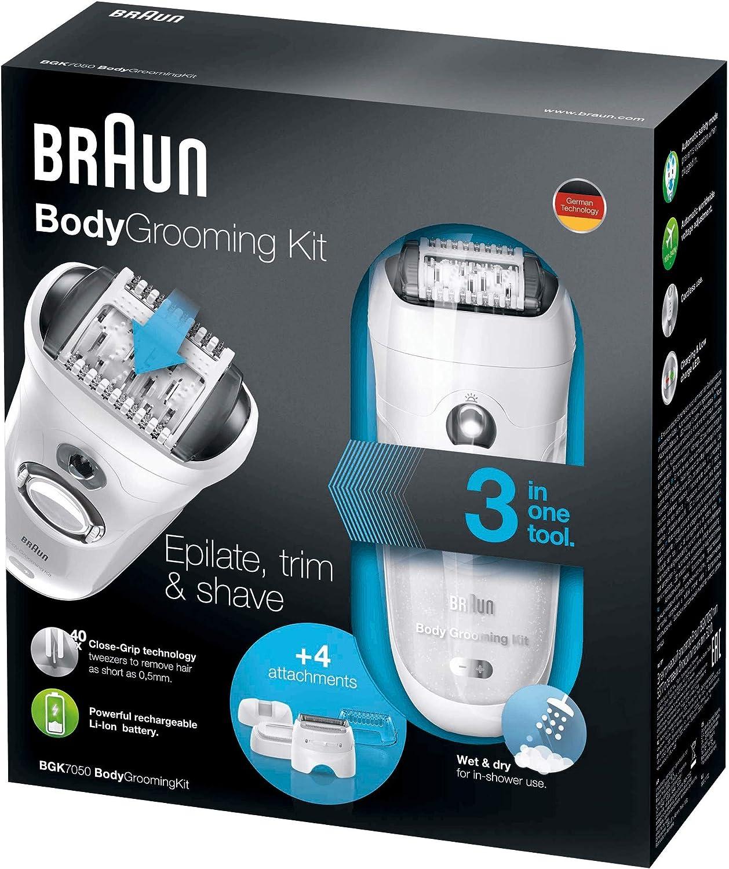Braun BGK 7050 - Depiladora masculina, kit de depilación corporal para hombre, color blanco: Amazon.es: Salud y cuidado personal
