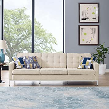 Amazon.com: Modway Loft – Tapizado sillón moderno de ...