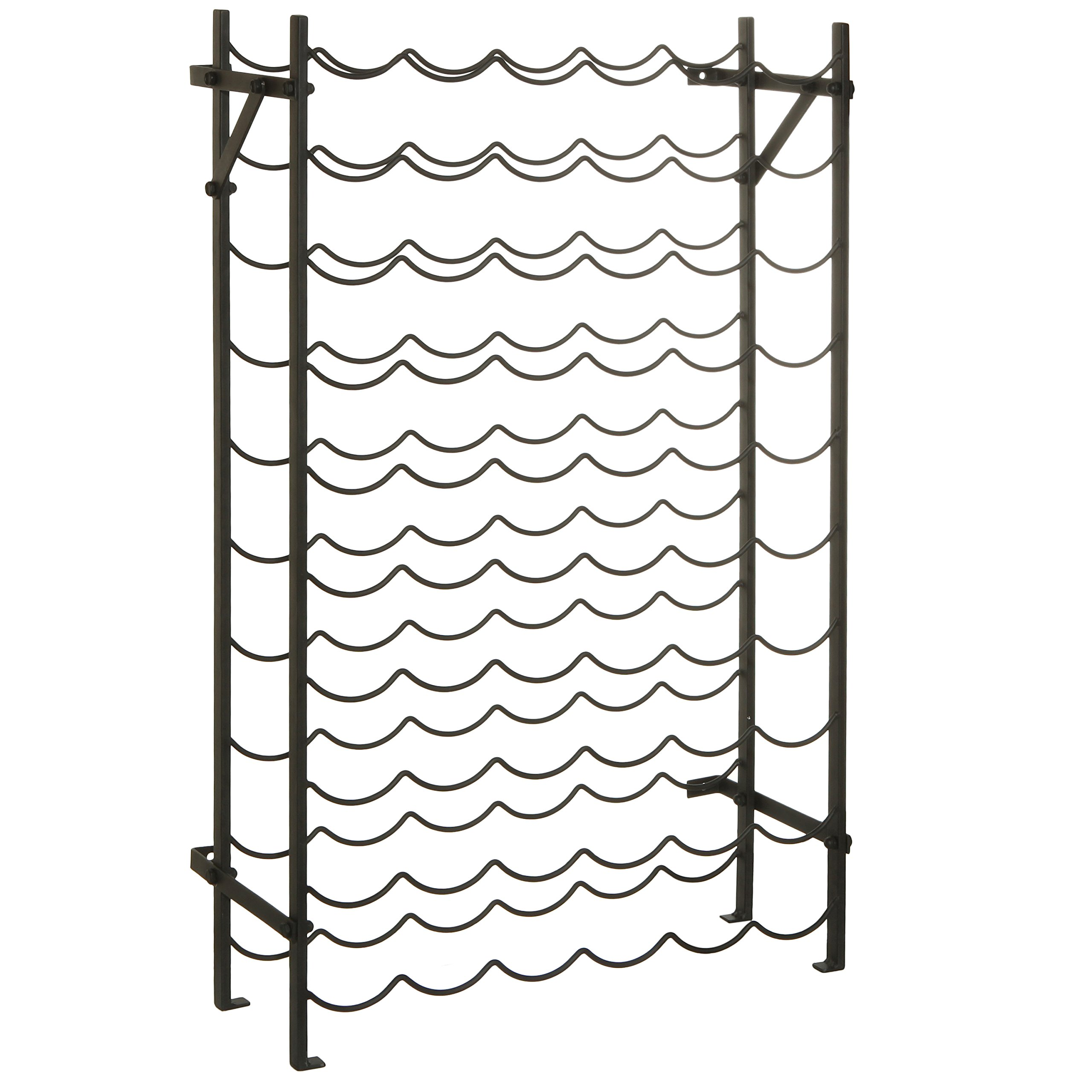 Modern Black Metal 60 Bottle Wine Cellar Organizer Rack/Wall Mounted Wine Collection Display Stand by MyGift (Image #3)