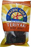 Pacific Gold Teriyaki Beef Jerky, Premium Steak with Natural Somke Flavor, Two 8 Ounce Resealable Bags