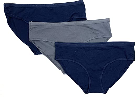 f951099ffd Victoria s Secret Hiphugger Hipster Cotton Panty Women s Underwear 3-Pack  Set Navy Gray Large
