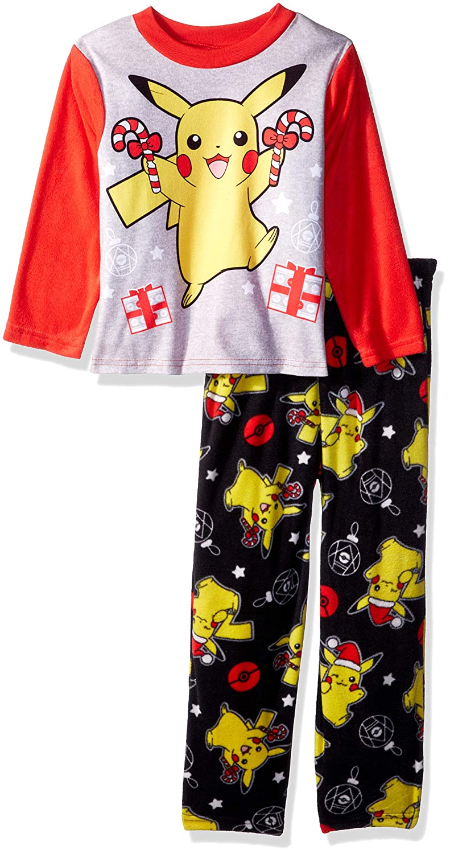 Pokemon Boys Pikachu Holiday 2-Piece Fleece Pajama Set 21PK176BLLZA-P6