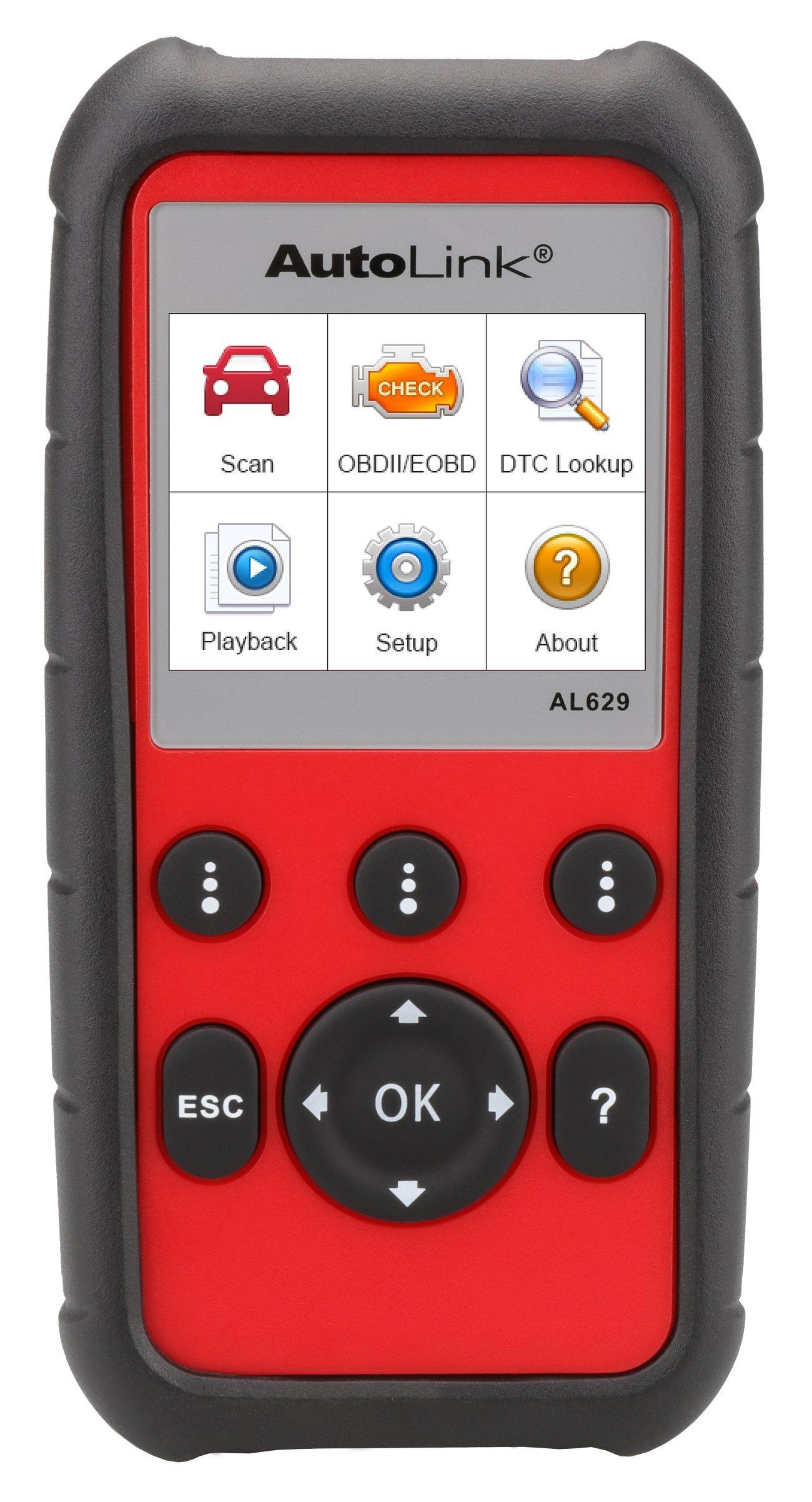 Autel Code Reader AutoLink AL629 Automotive Diagnostic Scan Tool for ABS SRS Engine Transmission,CAN OBDII Scanner DIY Professional Tool