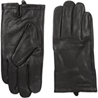 Calvin Klein Men's Basic Cuff Point Leather Glove with Touchscreen Technology