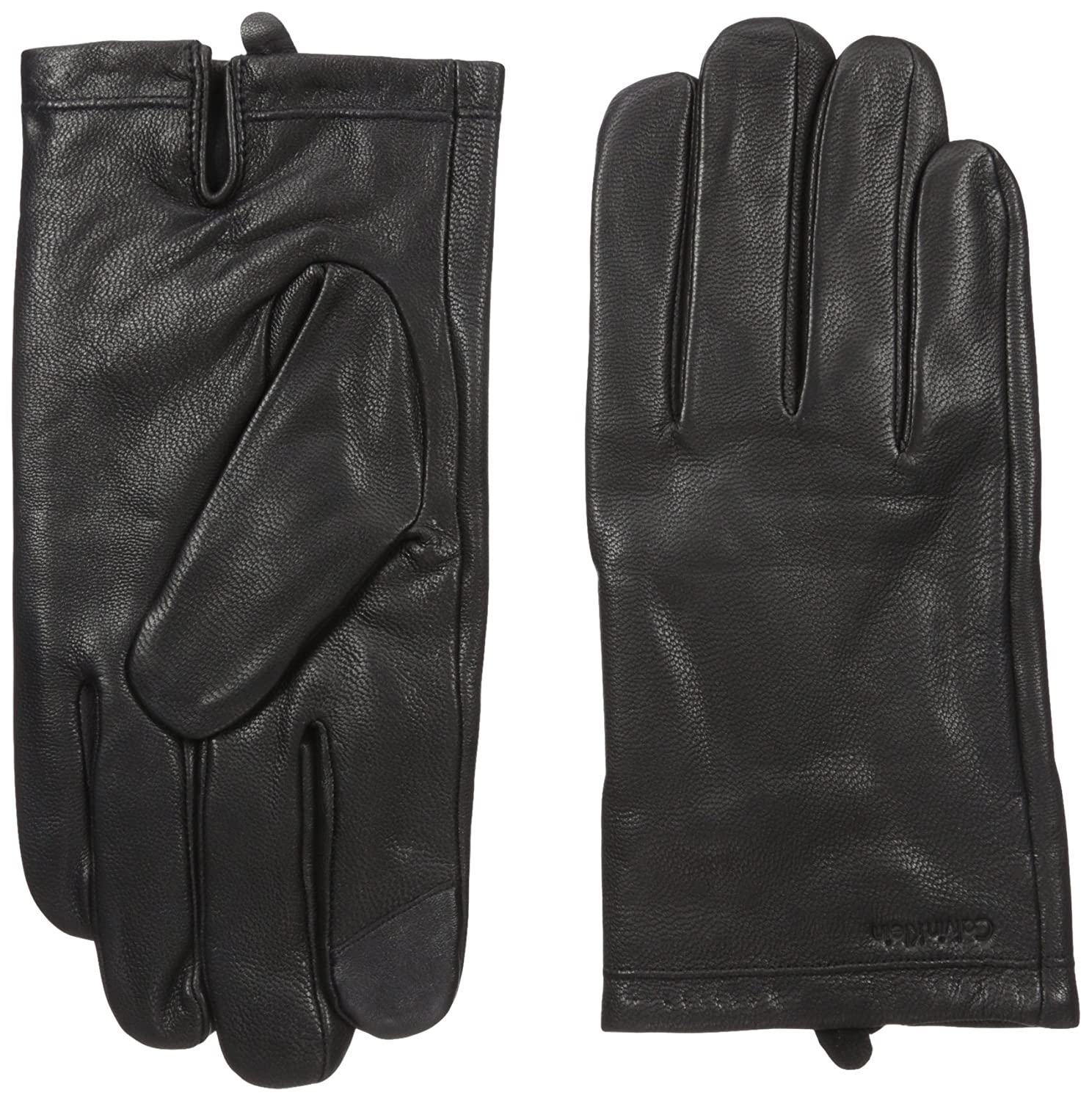 Calvin Klein mens Basic Cuff Point Leather Glove With Touchscreen Technology Calvin Klein Neckties HKL63208