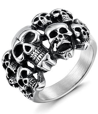 Bague skull homme