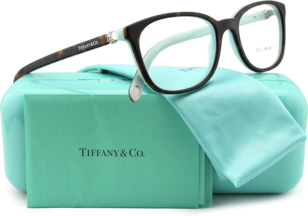 ea21b95996058 Amazon.com  Tiffany   Co. TF2109HB Eyeglasses Top Havana Blue (8134 ...