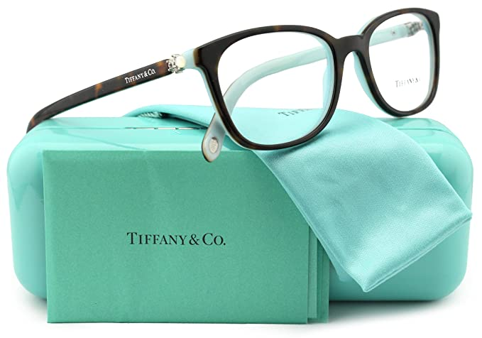 a87ce11fddde Image Unavailable. Image not available for. Colour  Tiffany   Co. TF2109HB  Eyeglasses Top Havana Blue (8134) TF 2109HB 8134