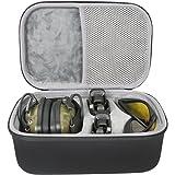 co2CREA Hard Travel Storage Carrying Case Bag for Howard Leight Impact Sport OD Electric Earmuff + Maglula ltd. UpLULA Pistol Magazine Loader/Unloader