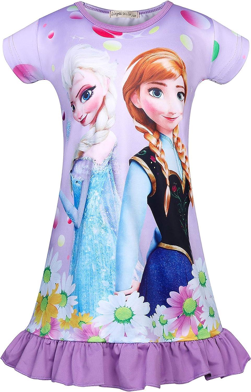 Girls Baby Shark PINGFONG Nightgowns Long Sleeve Pajamas Nightdress Sleepwear Nightshirt Casual Dresses