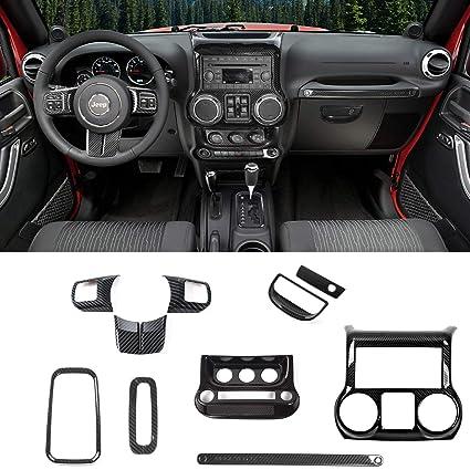 Jeep Wrangler Interior >> Amazon Com Rt Tcz Carbon Fiber Interior Decoration Trim Kit Trim