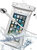 防水ケース Vcraw スマホ iPhone お風呂 水中撮影 潜水 温泉 水泳 アウトドア 海 防水ポーチ 防水 アイフォン 防塵ポーチ スマホ用 防水カバー iPhone8 / SE / 5 / 5s / iPhone6 / 6s / Plus / iPhone7 / 7s / Xperia / galaxy / Huawei など6インチ以下全機種対応 高感度タッチスクリーン IPX8認定 安心のメーカー保証 1年(ホワイト)
