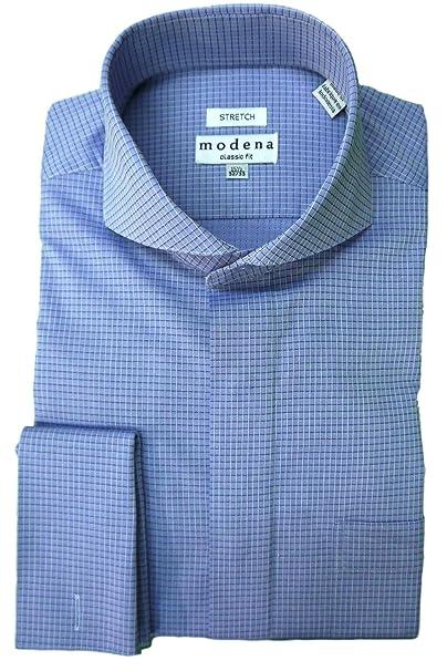 Amazon.com: Modena - Camisa de hombre con cuello de cuadros ...