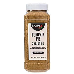 Crave Pumpkin Pie Spice Seasoning 16 Oz XL Jar - Premium Warm Spicy-Sweet Flavor