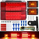 LINKITOM New Submersible LED Trailer Light Kit, Super Bright Brake Stop Turn Tail License Lights for Camper Truck RV…