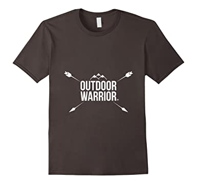 Mens Outdoor Warrior Camping By Gazillion Shirts 2XL Asphalt
