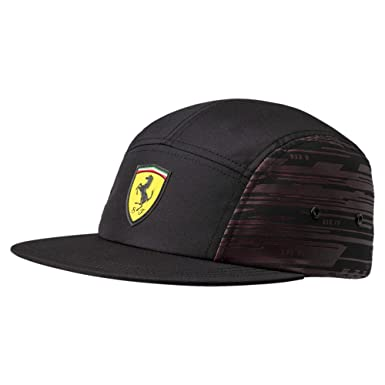 9e74b3b61f1fa2 PUMA Men's Ferrari Transform Hat Cap, Black, One Size at Amazon ...