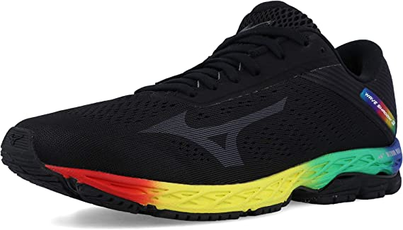 Mizuno Wave Shadow 3 Zapatillas de correr, color Negro, talla 43 ...